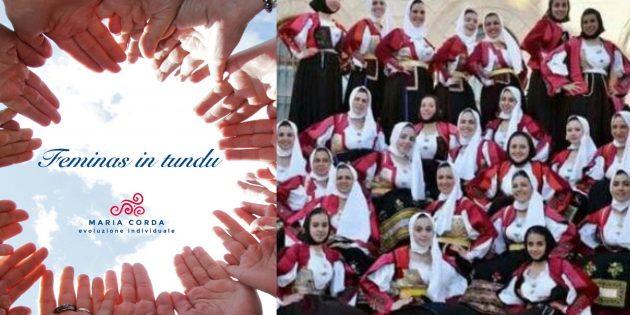 mani in cerchio per feminas in tundu e foto a colori de sas nugoresas