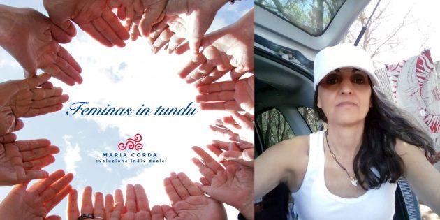 mani in cerchio per feminas in tundu e foto a colori di tonina tolu