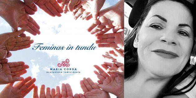 mani in cerchio per feminas in tundu e foto in bianco e nero di bastiana mattu