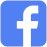icona social facebook blu